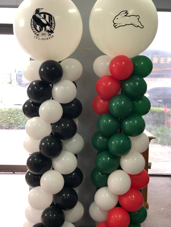 Footy Balloon Column - Balloonery