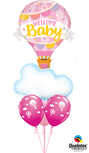 Welcome Baby Girl Clouds - Balloonery