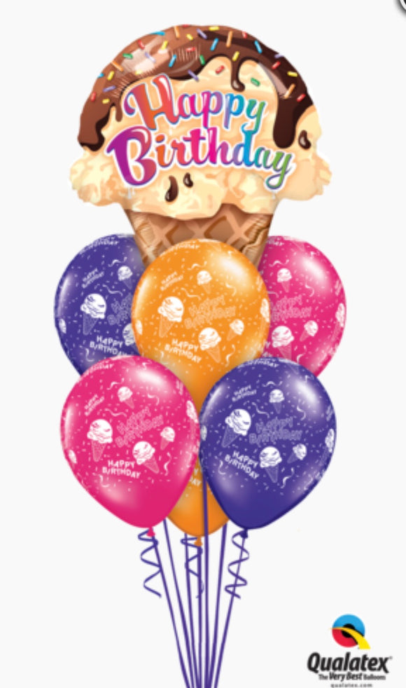 Happy Birthday Ice Cream Bouquet - Balloonery