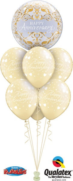 Happy Anniversary Gold - Balloonery