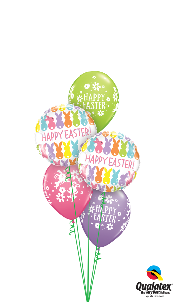 Happy Easter Bunnies & Daisies - Balloonery
