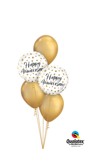 Chrome™ Gold Happy Anniversary - Balloonery
