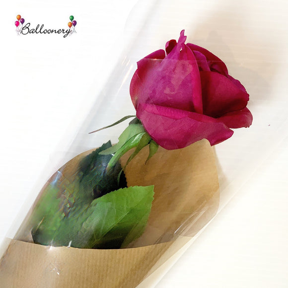 Single Silk Rose - Balloonery