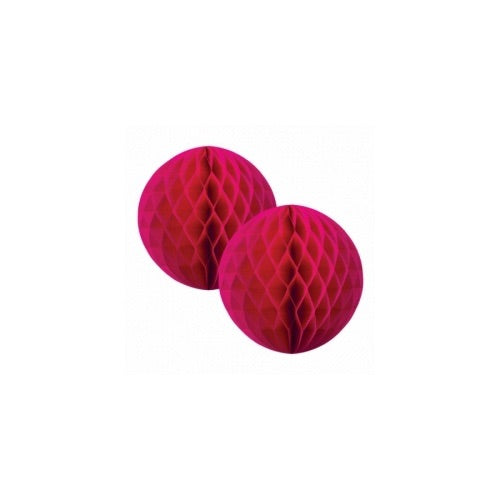 Paper Party Honeycomb Magenta 15cm (2pk) - Balloonery