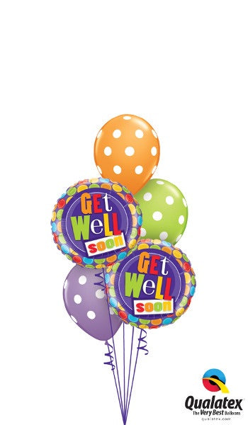 Get Well Polka Dots - Balloonery