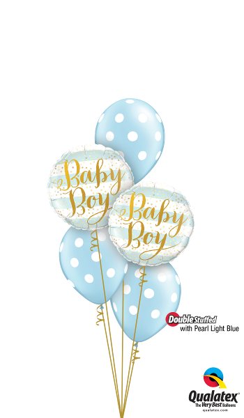 Pearl Light Blue Baby Polka Dots - Balloonery