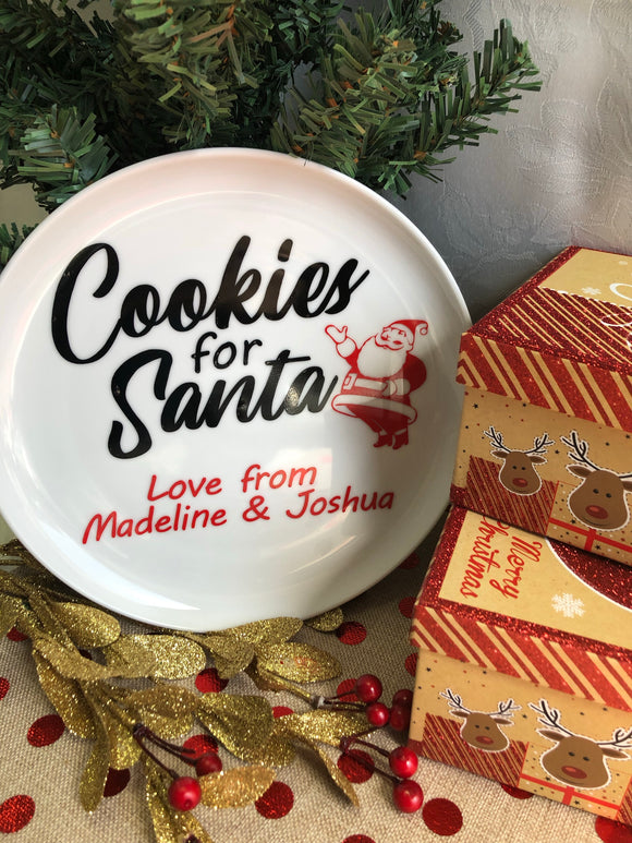 Cookies for Santa Plate - Balloonery