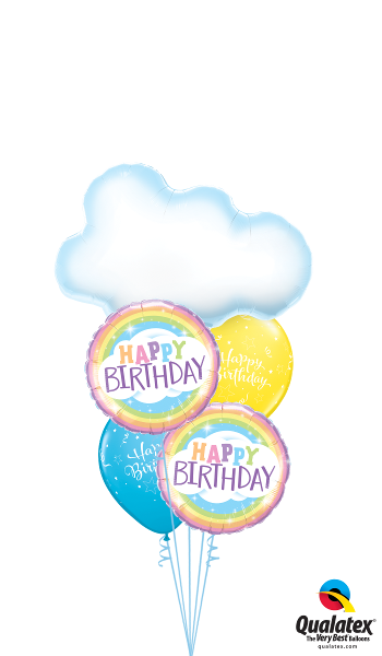 Birthday Clouds & Rainbows - Balloonery