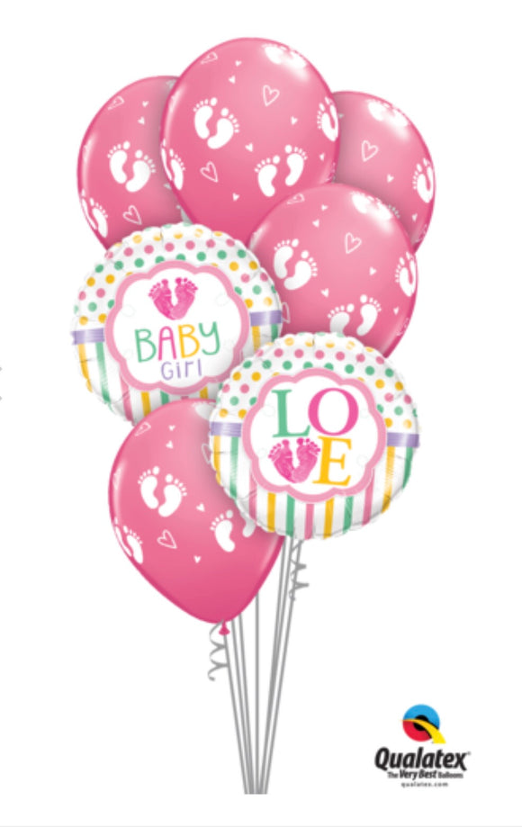Baby Girl Bouquet - Balloonery