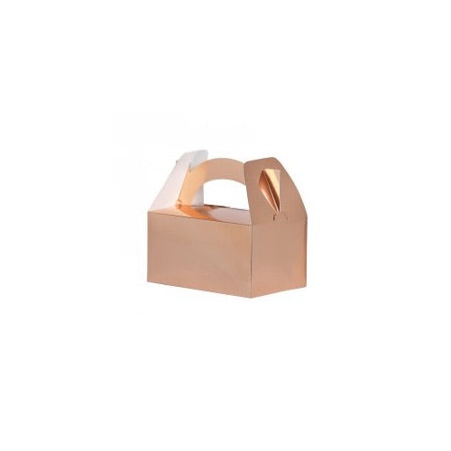 Paper Party Lunch Box Metallic Rose Gold - Balloonery