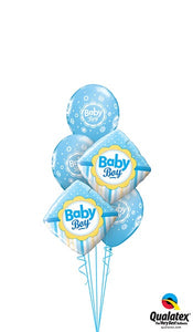Pale Blue Diamond Baby Boy - Balloonery