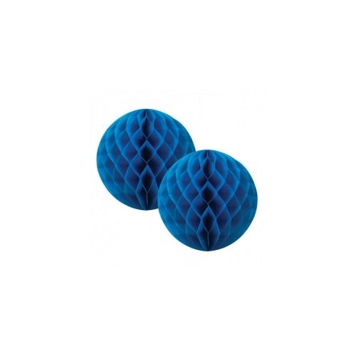 Paper Party Honeycomb True Blue 15cm (2pk) - Balloonery