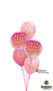 "Pink & Rose ""Let's Party!"" - Balloonery"