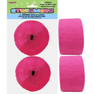 Paper Crepe Streamer Hot Pink 24m - Balloonery