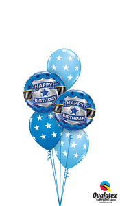 Birthday Badge in Blue - Balloonery