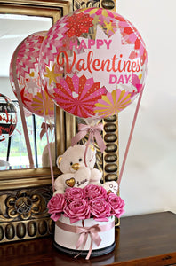 Pink Valentines Hot Air Balloon