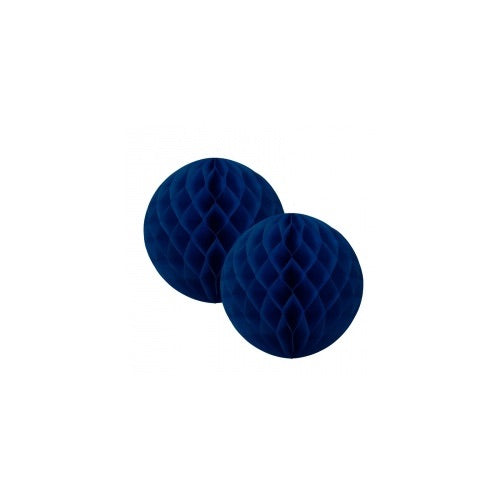 Paper Party Honeycomb Navy 15cm (2pk) - Balloonery
