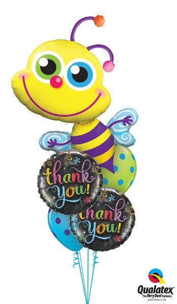 Thank You! Bumble Bee Polka Dots - Balloonery