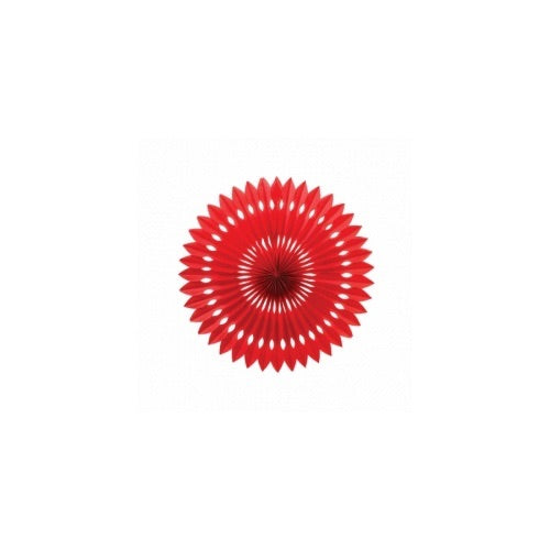 Paper Party Hanging Fan Apple Red 24cm - Balloonery
