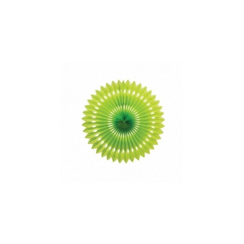 Paper Party Hanging Fan Lime Green 24cm - Balloonery