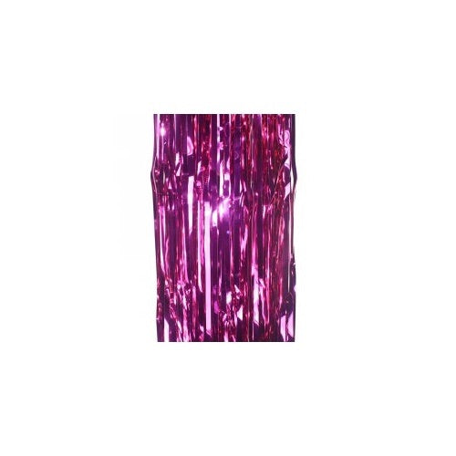Metallic Curtain Magenta - Balloonery
