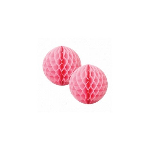 Paper Party Honeycomb Classic Pink 15cm (2pk) - Balloonery