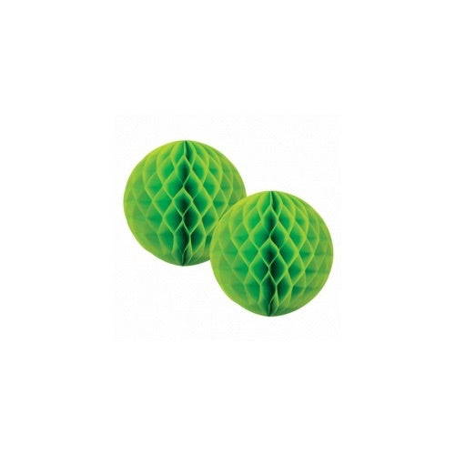 Paper Party Honeycomb Lime Green 15cm (2pk) - Balloonery