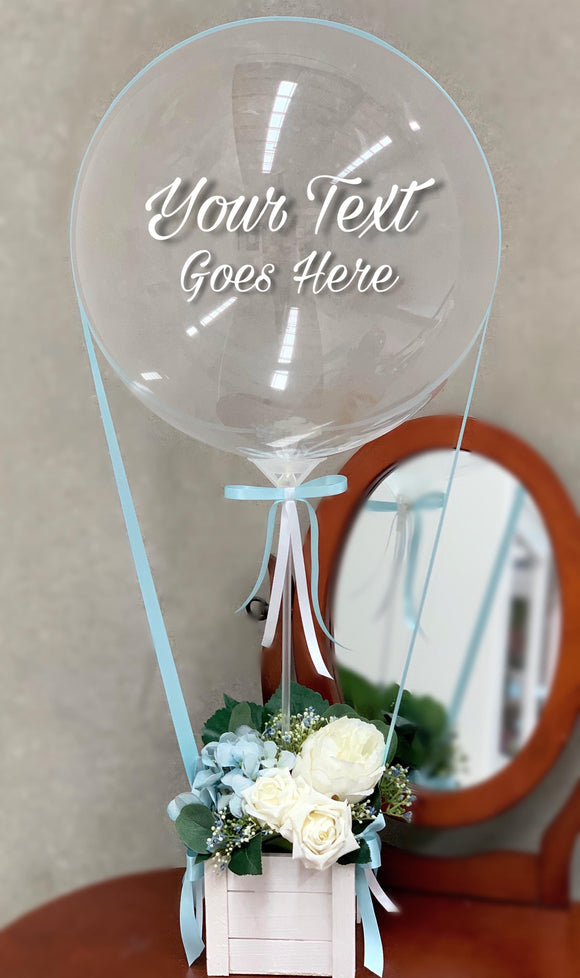 Personalised Hot Air Balloon Blue