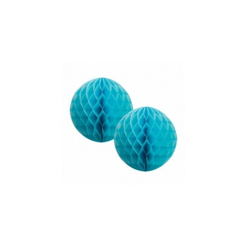 Paper Party Honeycomb Pastel Blue 15cm (2pk) - Balloonery