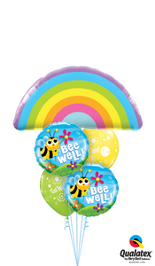 Get Well Rainbows, Bumble Bees, & Flowers