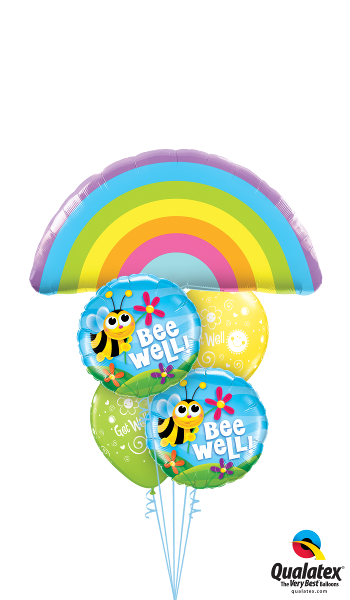 Get Well Rainbows, Bumble Bees, & Flowers - Balloonery