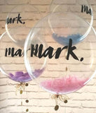 Personalised Decor Bubble - Feathers - Balloonery