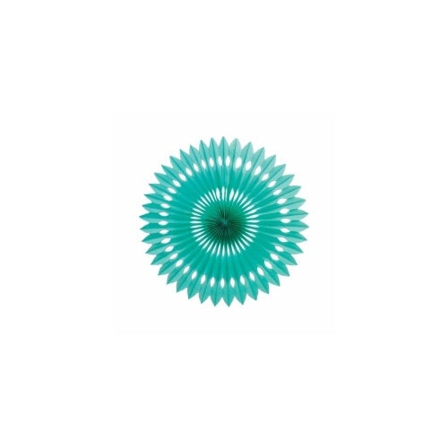 Paper Party Hanging Fan Turquoise 24cm - Balloonery