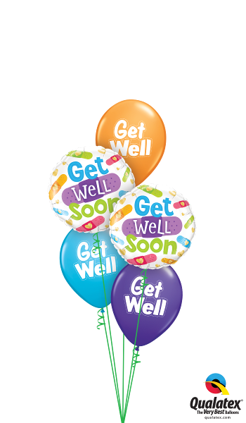 Get Well Soon Bandages - Balloonery