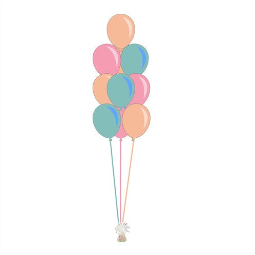 10 Balloon Bouquet - Balloonery