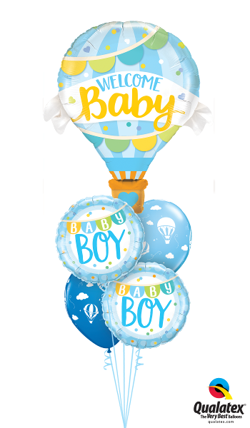 Welcome Baby Boy Hot Air Balloon - Balloonery