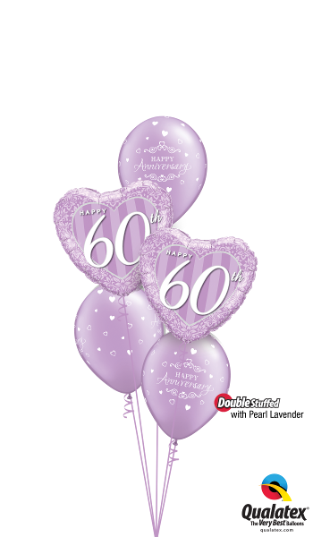 Lovely Lavender 60th Anniversary - Balloonery