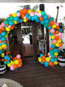 Arbour with Balloons and Greenery - Balloonery