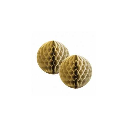Paper Party Honeycomb Gold 15cm (2pk) - Balloonery