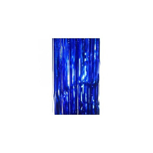 Metallic Curtain True Blue - Balloonery