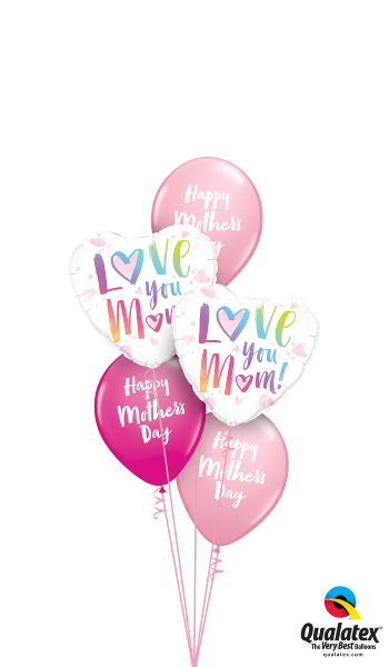 Pink, Wild Berry, & Rainbow Script Mother's Day - Balloonery
