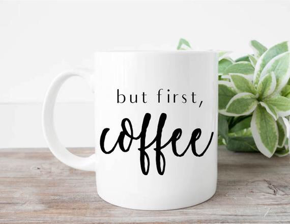 Coffee Mugs with Vinyl Decal - Balloonery