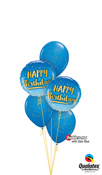 Blue & Gold Birthday - Balloonery