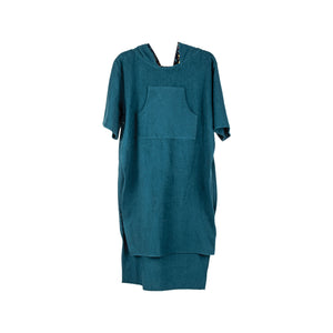 TOWEL COVER UP SLASH IN DARK TEAL GREEN