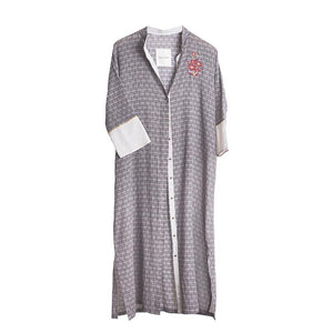 KAFTAN FLABEL IN FRENCH GREY