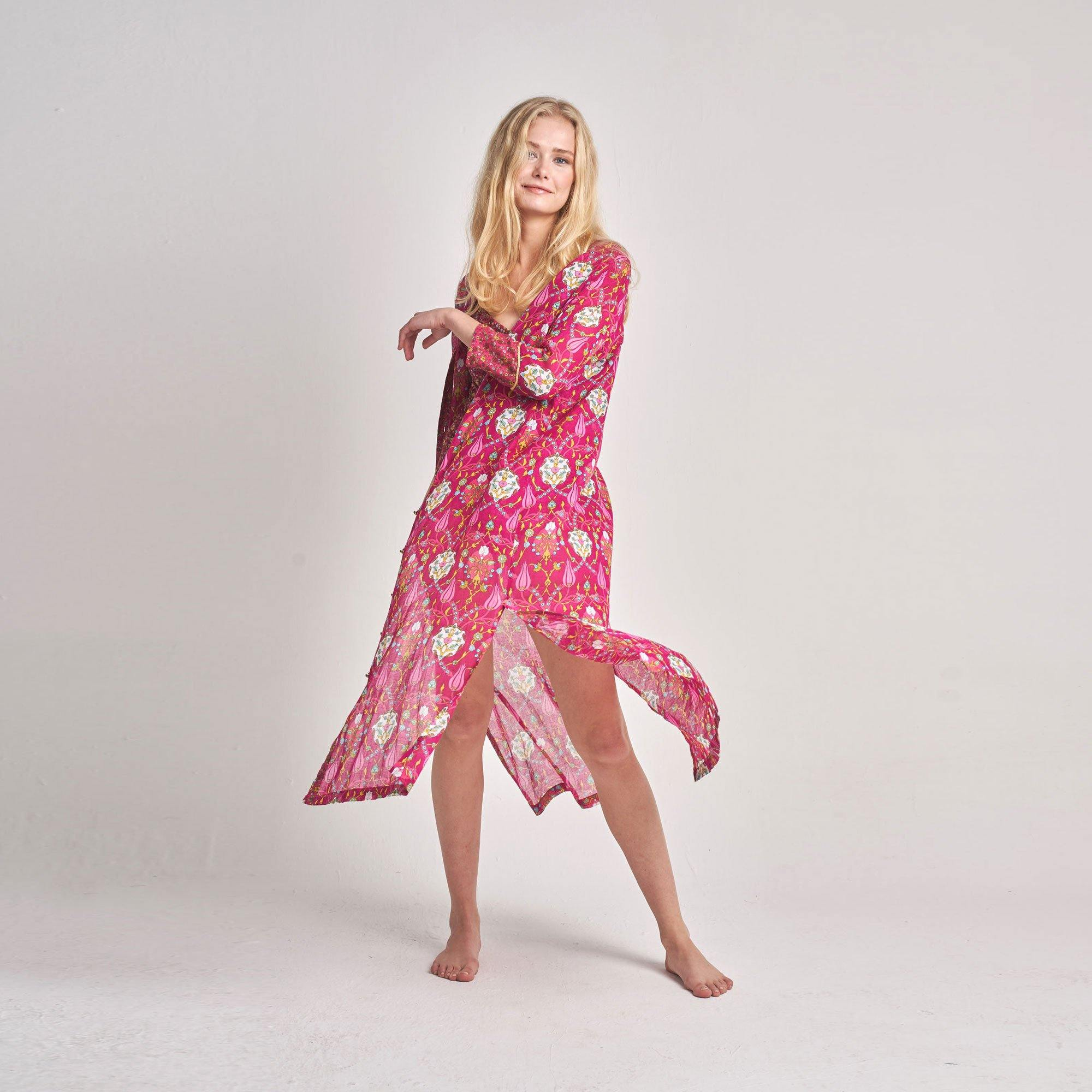 KAFTAN DALIA IN FUSHIA ROSE