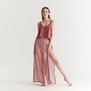 THIN STRAP CROP TOP FRENCH ROSE