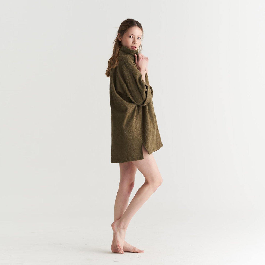 TOWEL COVER UP KHAKI