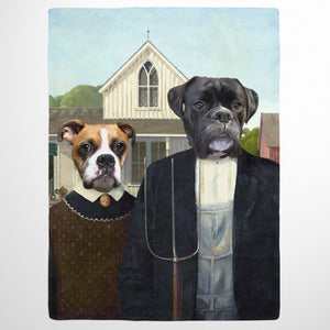 The American Gothic - Custom Pet Blanket
