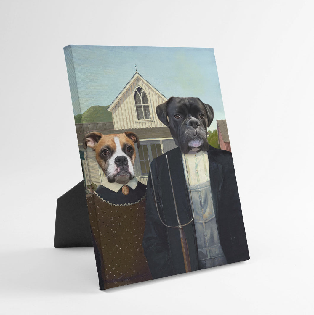 The American Gothic - Custom Standing Canvas